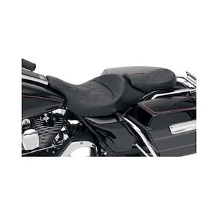 Saddlemen Tattoo Solo Seat And Pillion Pad For Harley Road/Electra Glide 1997-2007