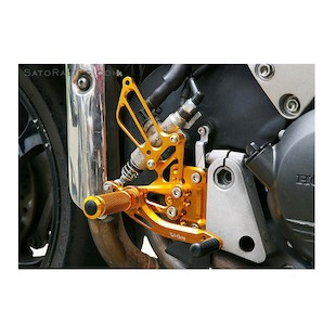 Sato Racing Rear Sets Reverse Shift Pattern Honda VFR800 2002-2012