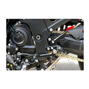 Sato Racing Reverse Shift Pattern Rear Sets Kawasaki ZX14 2006-2012
