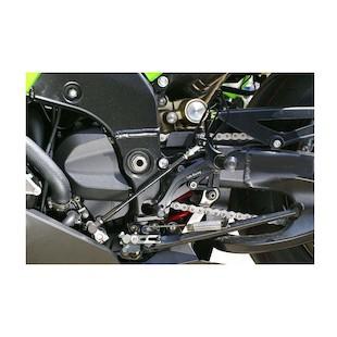 Sato Racing Reverse Shift Pattern Rear Sets Kawasaki ZX10R 2006-2007
