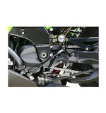 Sato Racing Reverse Shift Pattern Rear Sets Kawasaki ZX10R 2006-2007