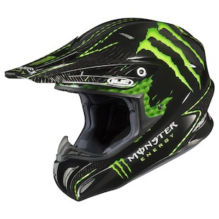 HJC RPHA X Adams Monster Helmet (Color: Black/Green / Size: 2XL)