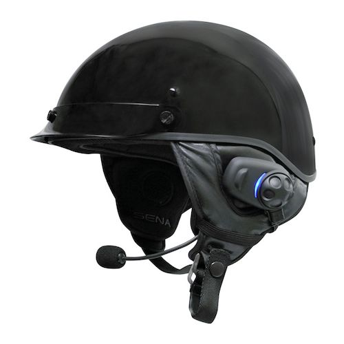 Sena SPH10H-FM Bluetooth Intercom With FM Tuner For Half Helmets