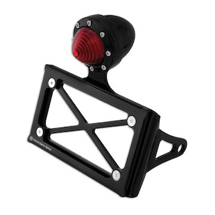 Roland Sands Horizontal Tail Light And Tag Bracket For Sportster And Dyna 86-13