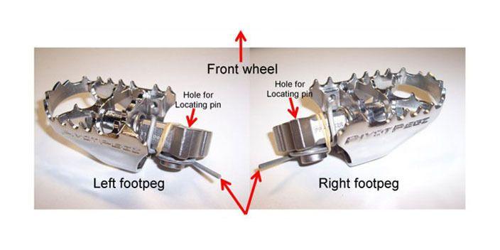 Honda XR400R 1996 1997 1998 1999 2000 Wide PIVOT PEGZ Footpegs Foot Pegs