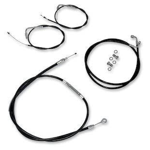 LA Choppers Handlebar Cable And Brake Line Kit For Harley Electra / Street Glide 1996-2007