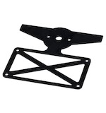 Biltwell Model B License Plate / Sissy Bar Bracket
