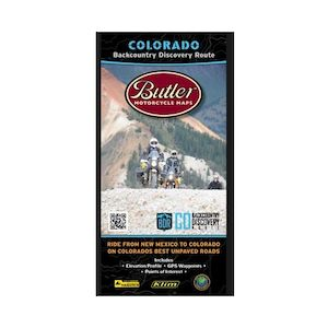 Butler Maps Colorado Backcountry Discovery Route