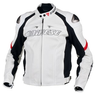 dainese racing perforated leather jacket detail