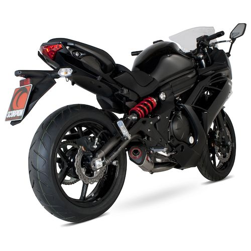 scorpion serket taper exhaust system kawasaki ninja 650 er6n 2012 2016 revzilla. Black Bedroom Furniture Sets. Home Design Ideas