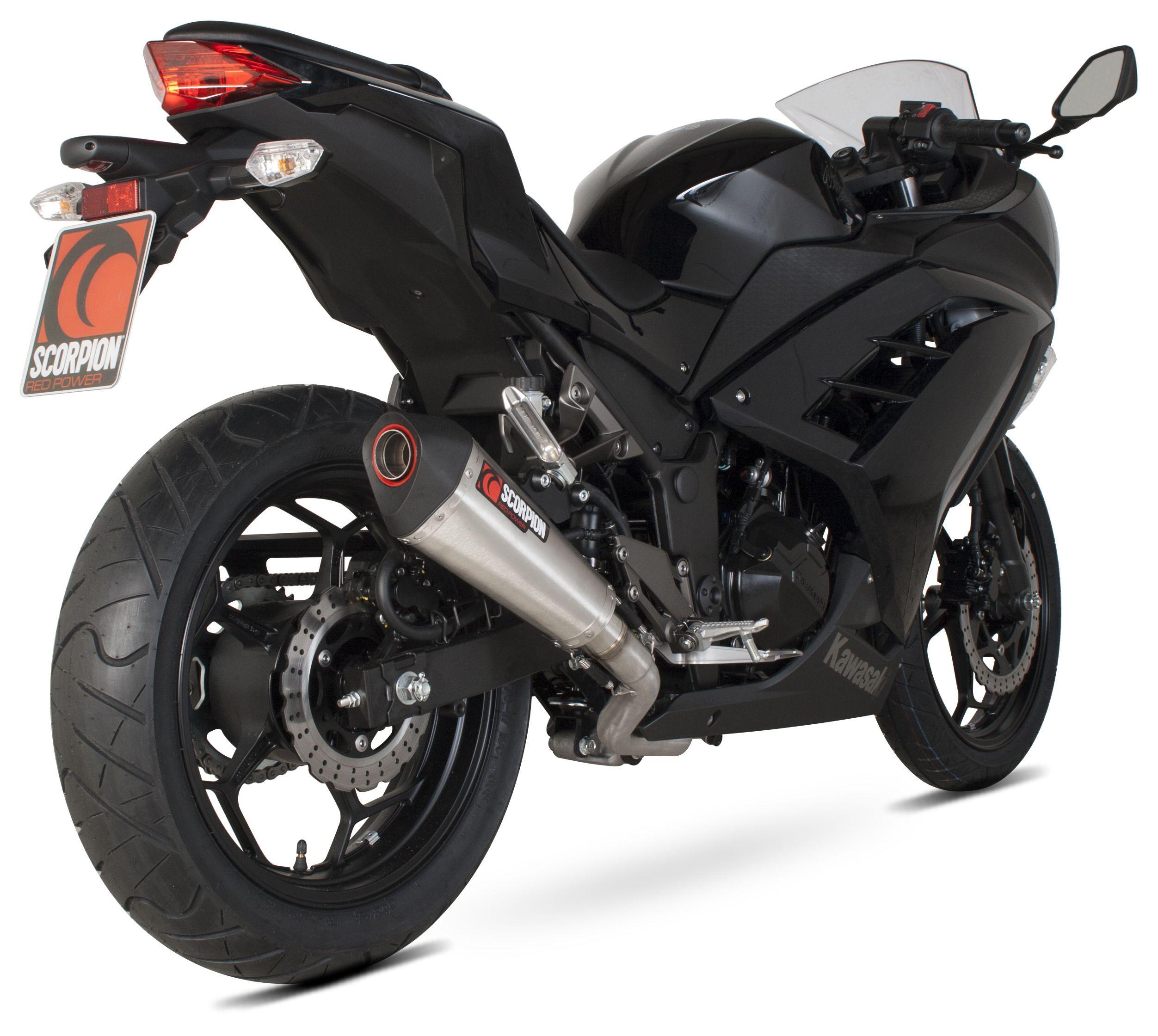 Scorpion Serket Taper Exhaust System Kawasaki Ninja 300 2013-2017 | 10%  ($104.00) Off! - RevZilla