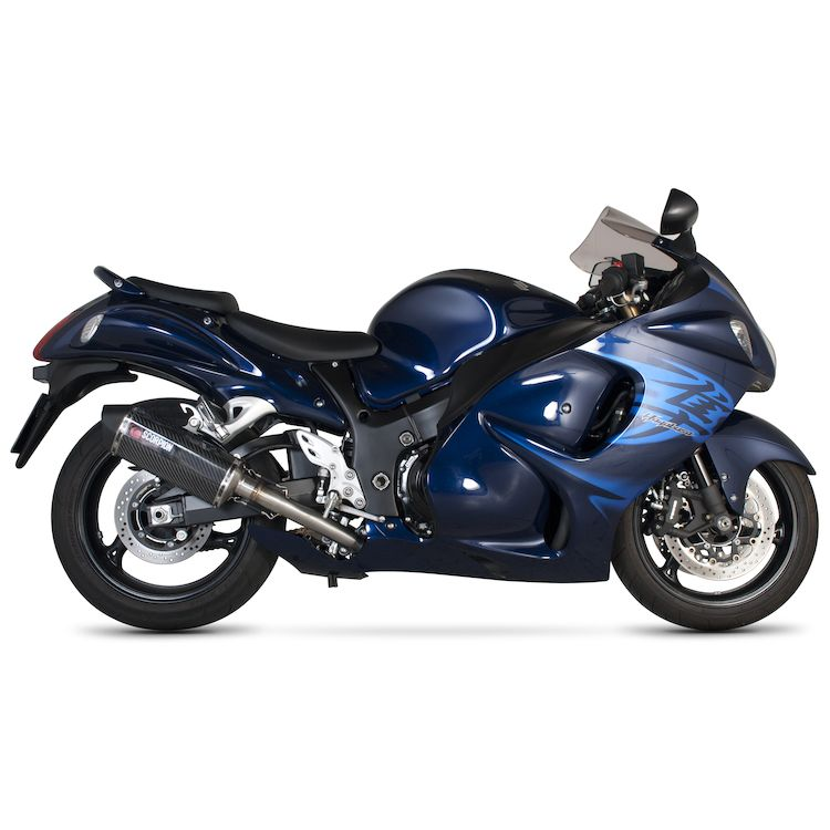 Scorpion Serket Parallel Slip-On Exhaust Suzuki Hayabusa GSX1300R ...