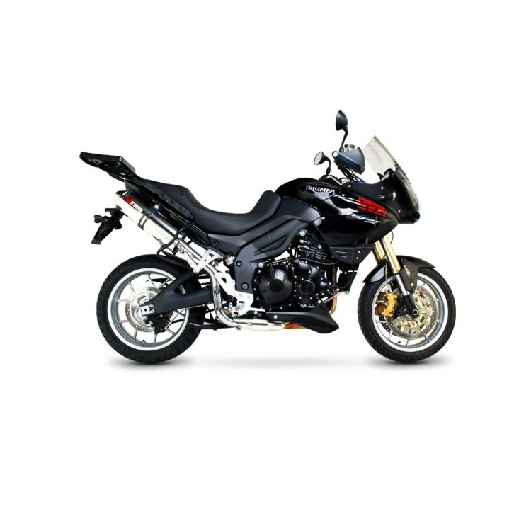 Scorpion Factory Oval Slip-On Exhaust Triumph Tiger 1050 2007-2013