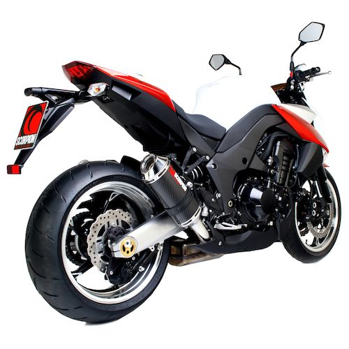 scorpion factory oval slip on exhaust kawasaki z1000 2010. Black Bedroom Furniture Sets. Home Design Ideas