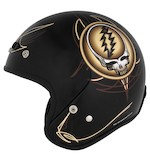River Road Grateful Dead Steal Your Face Sepia Vintage Helmet