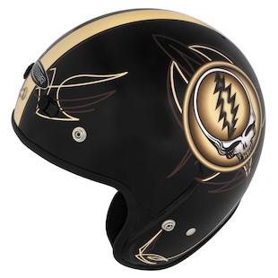 River Road Grateful Dead Steal Your Face Sepia Vintage Helmet