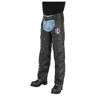 River Road Grateful Dead Steal Your Face Moto Chaps (SM Only)