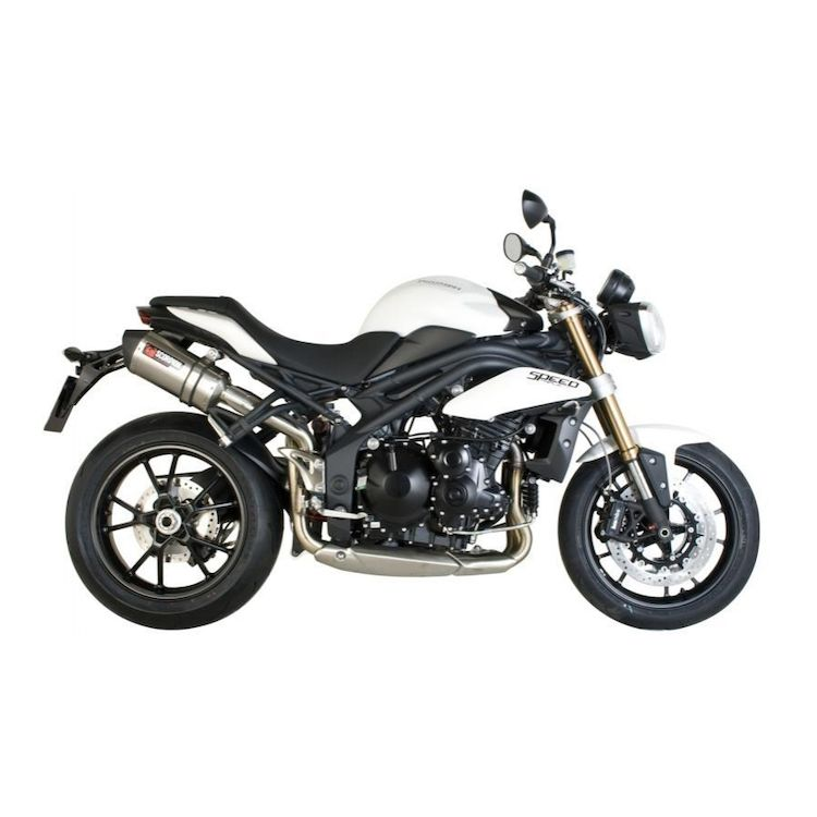 Scorpion Serket Parallel Slip-On Exhaust Triumph Speed Triple 1050 ...