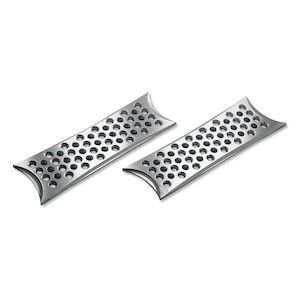 Battistinis Rectangular Driver Floorboards For Harley Touring / Softail 1980-2018