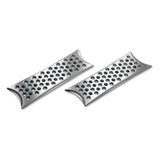 Battistinis Rectangular Driver Floorboards For Harley Touring / Softail 1980-2017