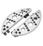 Battistinis Semi-Circular Driver Floorboards For Harley Touring / Softail 1987-2018