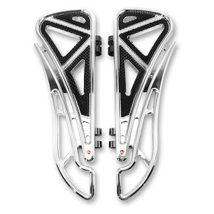 Battistinis Wire Frame Driver Floorboards For Harley Touring / Softail 1980-2019