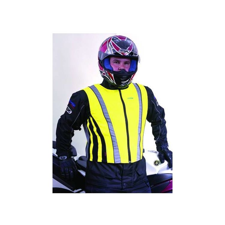 NEW OXFORD PRODUCTS MOTORCYCLE SCOOOTER HI-VIS HIGH VISIBILITY VEST S-XL