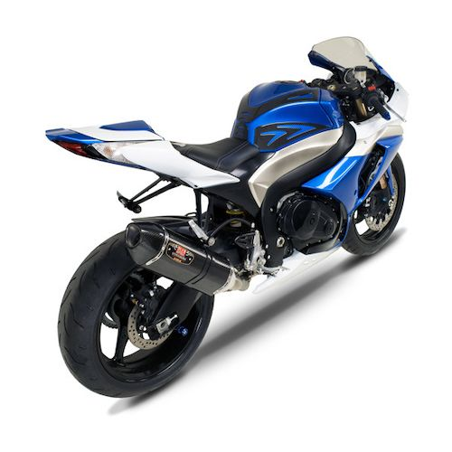 yoshimura r77 street dual slip on exhaust suzuki gsxr 1000. Black Bedroom Furniture Sets. Home Design Ideas