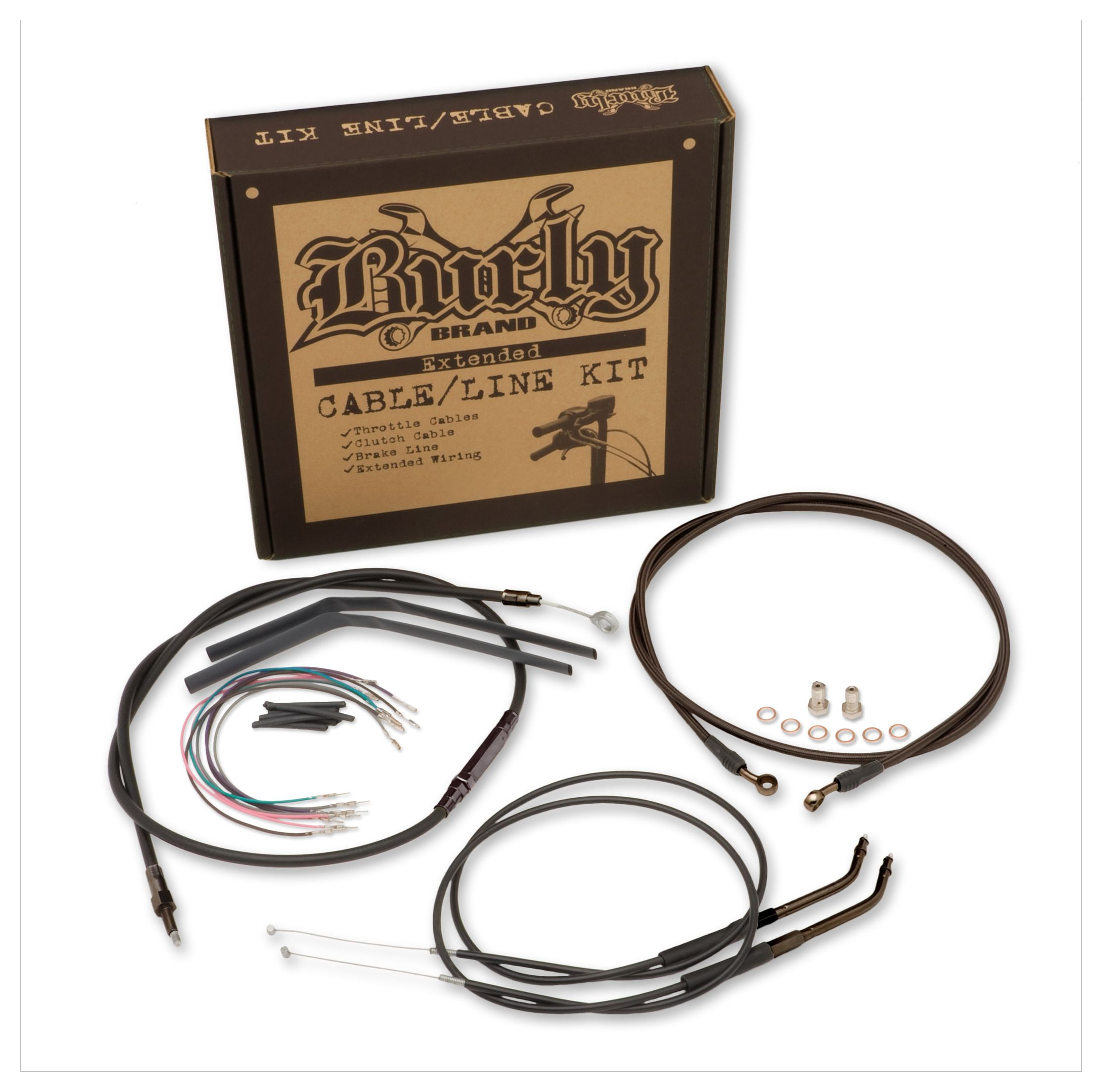 Burly Handlebar Cable Installation Kit For Harley Revzilla 1997 Davidson Dyna Wide Glide Wiring Diagram