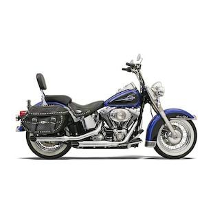 "Bassani 3"" Firepower Series Slip-On Mufflers For Harley Softail 2007-2017"
