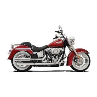 "Bassani 3"" Firepower Series Slip-On Mufflers For Harley Softail Nostalgia and Cross Bones 2007-2014"