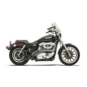 Bassani Radial Sweepers Exhaust With Heat Shields For Harley Sportster 1986-2003