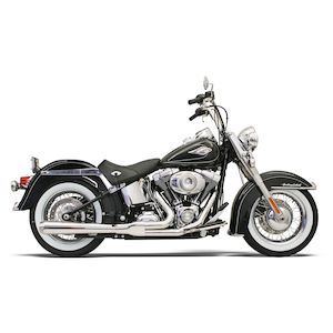 Bassani Road Rage 2-Into-1 Exhaust For Harley Softail 1986-2017