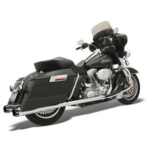 Bassani +P Stepped True-Duals Exhaust For Harley Touring 1995-2016