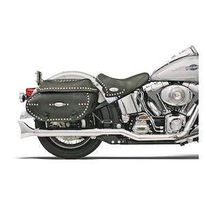 Bassani Hutch Special True Dual Mufflers For Harley Softail 2000-2017
