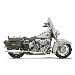 Bassani Power Curve True Dual Crossover Head Pipes For Harley Softail 2007-2015