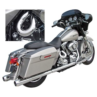 Bassani Power Curve True Dual Crossover Head Pipes For Harley Touring 2007-2008