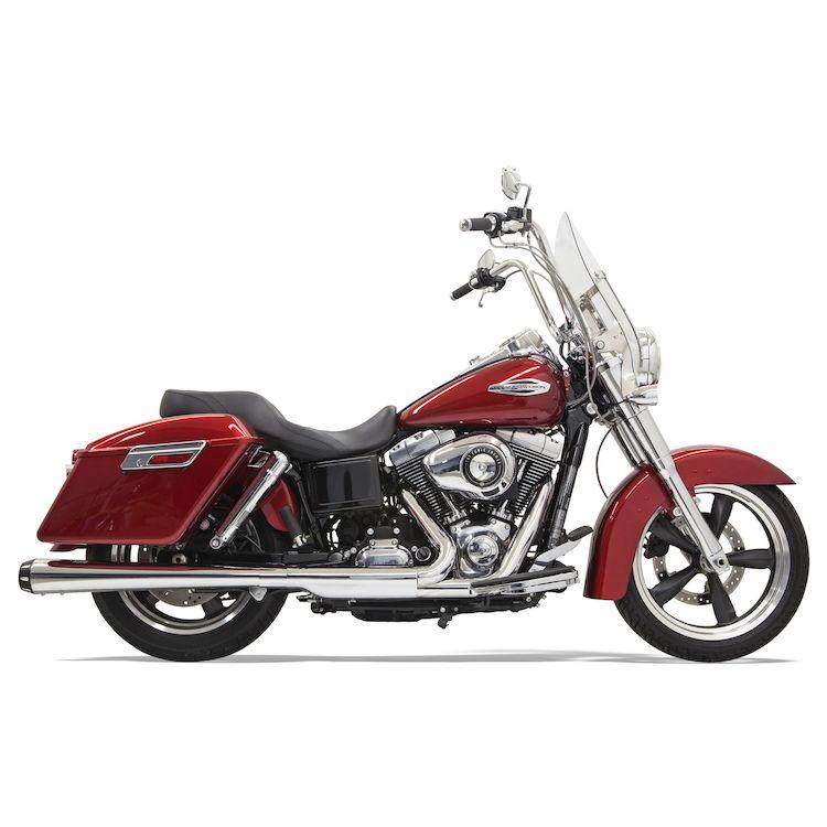 """Bassani 4"""" Slip-On Muffler For Harley Switchback 2012-2016"""