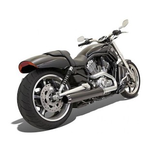 "Bassani 4"" Slip-On Mufflers For Harley V-Rod Muscle 2009-2015"