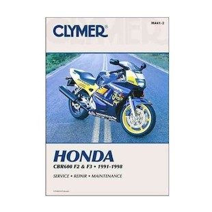 Clymer Manual Honda CBR600F2 / CBR600F3 1991-1998 Clymer motorcycle repair manuals are written specifically for the do-it-yourself enthusiast. From basic maintenance to troubleshooting to complete overhaul, Clymer manuals provide the information you need. The most important tool in your tool box may be your Clymer manual, get one today. Note: It is always important to consult multiple sources with any questions when attempting to repair your own bike. Breaking things saves neither time or money! Models Covered: CBR600F2 (1991-1994) CBR600F3 (1995-1998) CBR600SJR Smokin' Joe's (1996) CBRSE Smokin' Joe's (1998) CBR600F (U.K.)