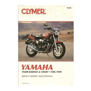 Clymer Manual Yamaha YX600 Radian / FZ600 1986-1990 on CD Clymer motorcycle repair manuals are written specifically for the do-it-yourself enthusiast. From basic maintenance to troubleshooting to complete overhaul, Clymer manuals provide the information you need. The most important tool in your tool box may be your Clymer manual, get one today. Note: It is always important to consult multiple sources with any questions when attempting to repair your own bike. Breaking things saves neither time or money! Models Covered: Yamaha FZ600 (1986-1988) Yamaha YX600 Radian (1986-1990)
