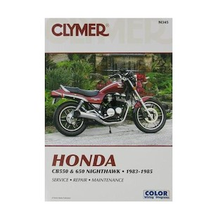 Clymer Manual Honda CB550 / CB650 Nighthawk 1983-1985 Clymer motorcycle repair manuals are written specifically for the do-it-yourself enthusiast. From basic maintenance to troubleshooting to complete overhaul, Clymer manuals provide the information you need. The most important tool in your tool box may be your Clymer manual, get one today. Includes color wiring diagrams. Note: It is always important to consult multiple sources with any questions when attempting to repair your own bike. Breaking things saves neither time or money! Models Covered: CB550SC (1983) CB650SC (1983-1985)