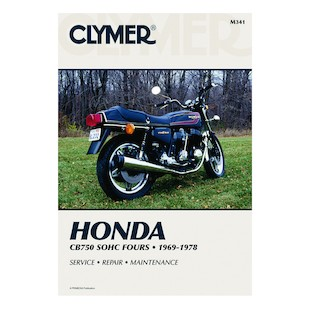 Clymer Manual Honda CB750 SOHC 1969-1978 Clymer motorcycle repair manuals are written specifically for the do-it-yourself enthusiast. From basic maintenance to troubleshooting to complete overhaul, Clymer manuals provide the information you need. The most important tool in your tool box may be your Clymer manual, get one today. Includes color wiring diagrams. Note: It is always important to consult multiple sources with any questions when attempting to repair your own bike. Breaking things saves neither time or money! Models Covered: CB750K (1969-1978) CB750A (1976-1978) CB750F (1975-1978)