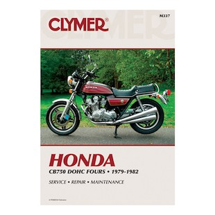 Clymer Manual Honda CB750 DOHC Fours 1979-1982 Clymer motorcycle repair manuals are written specifically for the do-it-yourself enthusiast. From basic maintenance to troubleshooting to complete overhaul, Clymer manuals provide the information you need. The most important tool in your tool box may be your Clymer manual, get one today. Includes color wiring diagrams. Note: It is always important to consult multiple sources with any questions when attempting to repair your own bike. Breaking things saves neither time or money! Models Covered: CB750C (1980-1982) CB750K (1979-1982) CB750F (1979-1982) CB750K-LTD (1979)