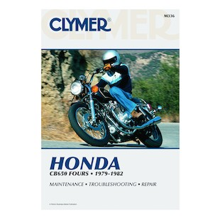 Clymer Manual Honda CB650 Fours 1979-1982 Clymer motorcycle repair manuals are written specifically for the do-it-yourself enthusiast. From basic maintenance to troubleshooting to complete overhaul, Clymer manuals provide the information you need. The most important tool in your tool box may be your Clymer manual, get one today. Note: It is always important to consult multiple sources with any questions when attempting to repair your own bike. Breaking things saves neither time or money! Models Covered: CB650 (1979-1982) CB650SC (1982) CB650C (1980-1981)