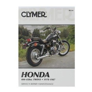 Clymer Manual Honda 400 - 450 Twins 1978-1987 Clymer motorcycle repair manuals are written specifically for the do-it-yourself enthusiast. From basic maintenance to troubleshooting to complete overhaul, Clymer manuals provide the information you need. The most important tool in your tool box may be your Clymer manual, get one today. Note: It is always important to consult multiple sources with any questions when attempting to repair your own bike. Breaking things saves neither time or money! Models Covered: CB400T Type I (1978-1979) CB400T Type II (1978-1979) CB400T (1980-1981) CB400A (1978) CM400A (1979-1981) CB400C (1982) CM400E (1980-1981) CM400T (1979-1981 CB450T (1982) CB450SC Nighthawk (1982-1983, 1985-1986) CM450A (1982-1983) CM450C