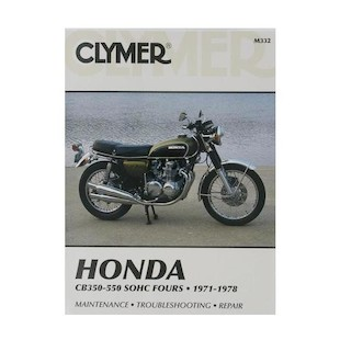 Clymer Manual Honda CB350 / 550 Fours 1971-1978 Clymer motorcycle repair manuals are written specifically for the do-it-yourself enthusiast. From basic maintenance to troubleshooting to complete overhaul, Clymer manuals provide the information you need. The most important tool in your tool box may be your Clymer manual, get one today. Note: It is always important to consult multiple sources with any questions when attempting to repair your own bike. Breaking things saves neither time or money! Models Covered: CB350F (1972-1974) CB400F (1975-1977) CB500 (1971-1973) CB550 (1974-1978) CB550F (1975-1977)