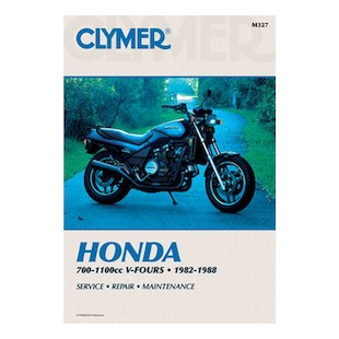 Clymer Manual Honda VF700 / VF750 / VF1100 Magna & Sabre 1982-1988 Clymer motorcycle repair manuals are written specifically for the do-it-yourself enthusiast. From basic maintenance to troubleshooting to complete overhaul, Clymer manuals provide the information you need. The most important tool in your tool box may be your Clymer manual, get one today. Includes color wiring diagrams. Note: It is always important to consult multiple sources with any questions when attempting to repair your own bike. Breaking things saves neither time or money! Models Covered: VF700C Magna (1984-1987) VF700S Sabre (1984-1985) VF750C V45 Magna (1982-1983, 1988) VF750F V45 Sabre (1982-1983) VF1100C V65 Magna (1983-1986) VF1100S V65 Sabre (1984-1985)