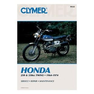 Clymer Manual Honda 250 / 350 Twins 1964-1974 Clymer motorcycle repair manuals are written specifically for the do-it-yourself enthusiast. From basic maintenance to troubleshooting to complete overhaul, Clymer manuals provide the information you need. The most important tool in your tool box may be your Clymer manual, get one today. Includes color wiring diagrams. Note: It is always important to consult multiple sources with any questions when attempting to repair your own bike. Breaking things saves neither time or money! Models Covered: CB250 (1964-1974) CL250 (1967-1974) CB350 (1968-1973) CL350 (1968-1973) SL350 (1969-1973)
