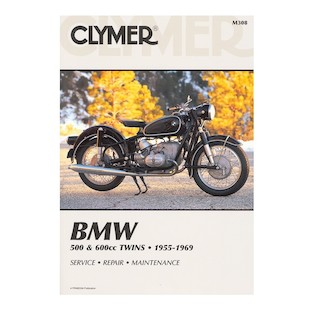 Clymer Manual BMW 500 / 600 Twins 1955-1969 Clymer motorcycle repair manuals are written specifically for the do-it-yourself enthusiast. From basic maintenance to troubleshooting to complete overhaul, Clymer manuals provide the information you need. The most important tool in your tool box may be your Clymer manual, get one today. Note: It is always important to consult multiple sources with any questions when attempting to repair your own bike. Breaking things saves neither time or money! Models Covered: BMW R50 (1955-1960) BMW R50/2 (1960-1969) BMW R50S (1960-1962) BMW R50US (1967-1969) BMW R60 (1956-1960) BMW R60/2 (1960-1969) BMW R60US (1967-1969) BMW R69 (1955-1960) BMW R69S (1960-1969) BMW R69US (1967-1969)